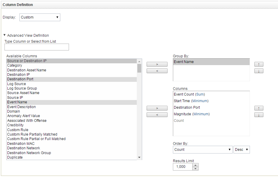 Step 6 (optional)  Displaying events in a dashboard