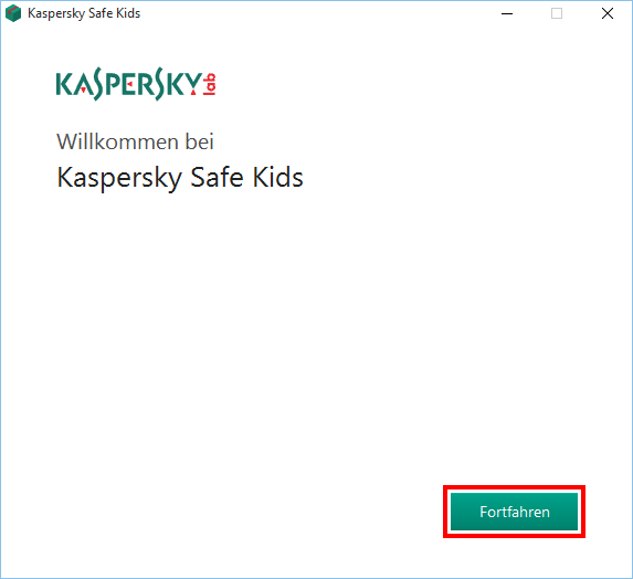 Installation von Kaspersky Safe Kids