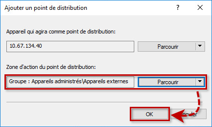 Ajouter un point de distribution dans Kaspersky Security Center 11