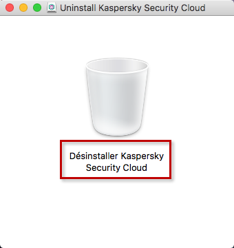 Lancer la désinstallation de Kaspersky Security Cloud 19 for Mac