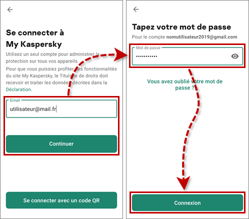 Se connecter à My Kaspersky dans Kaspersky VPN Secure Connectiоn for Android