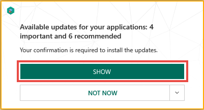 How to update applications installed on your computer