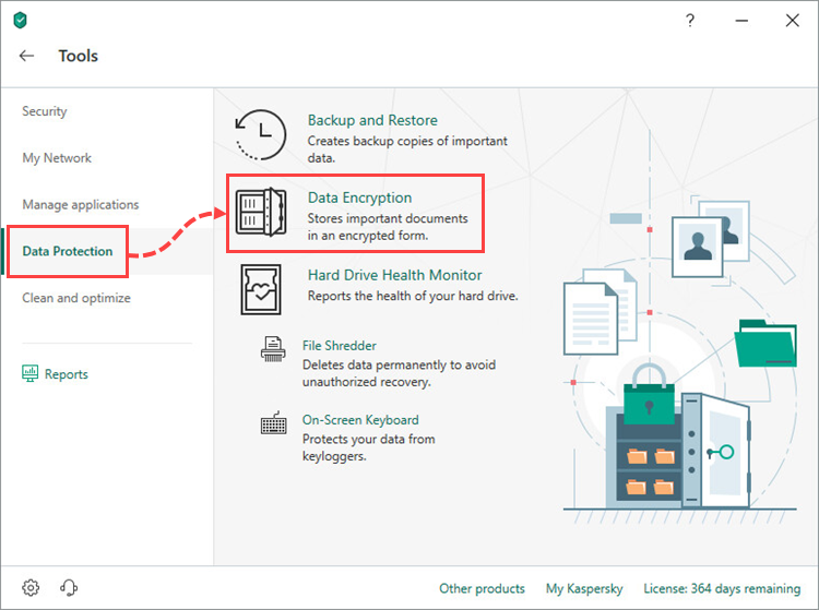 Data Encryption in Kaspersky Security Cloud 19
