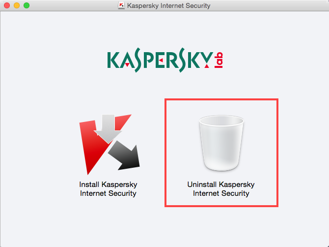 Uninstall Kaspersky Internet Security 15 for Mac