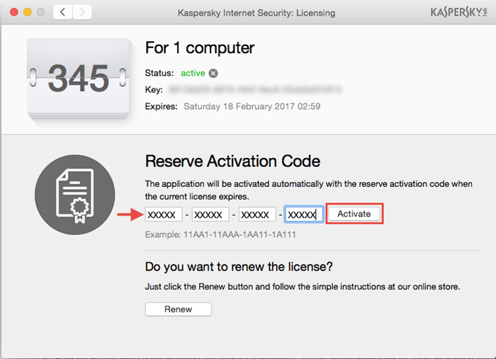 How To Renew And Add Licenses In Kaspersky Internet Security 16 For Mac
