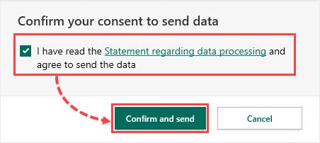Confirming the application report in Kaspersky Security Cloud 20