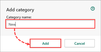 Adding a category to a resource in Kaspersky Total Security 20