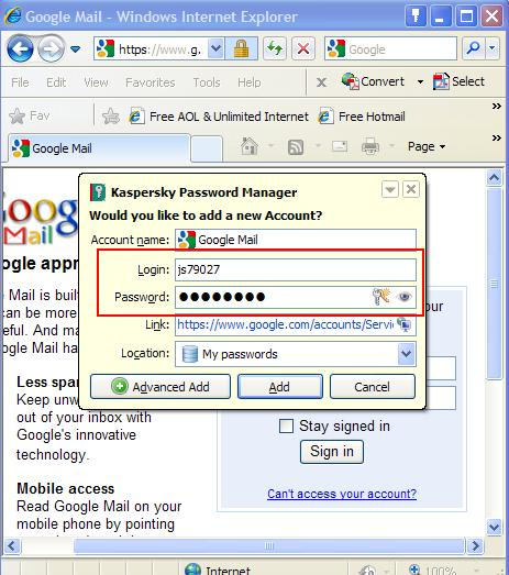 how to delete saved password on kaspersky