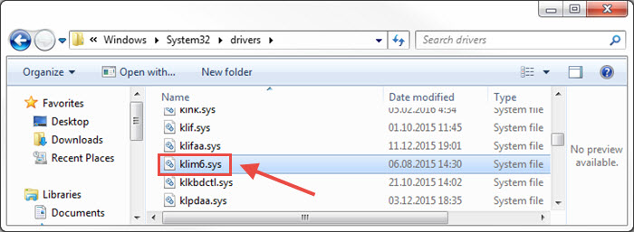 Image: the Drivers folder