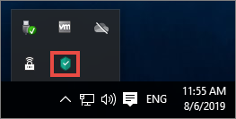 Opening a Kaspersky Lab application via the taskbar icon