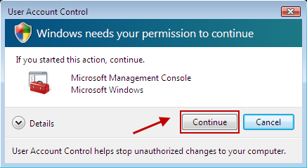 Image: User Account Control window
