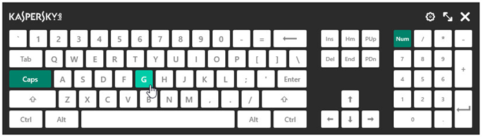 How to protect data entered from the keyboard in Kaspersky