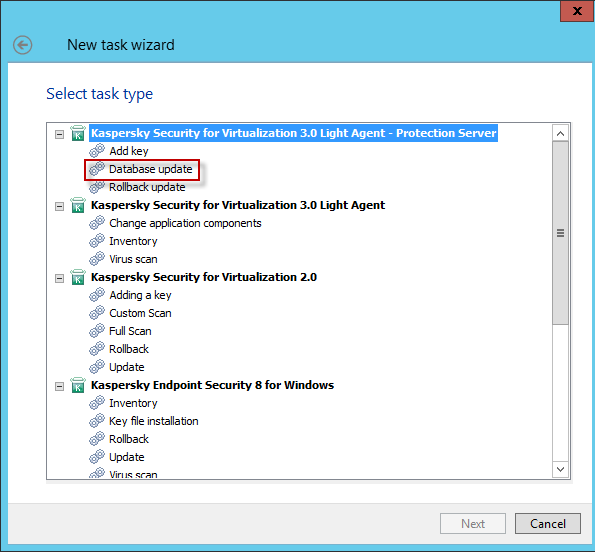 How to create a remote database update task via Kaspersky Security ...