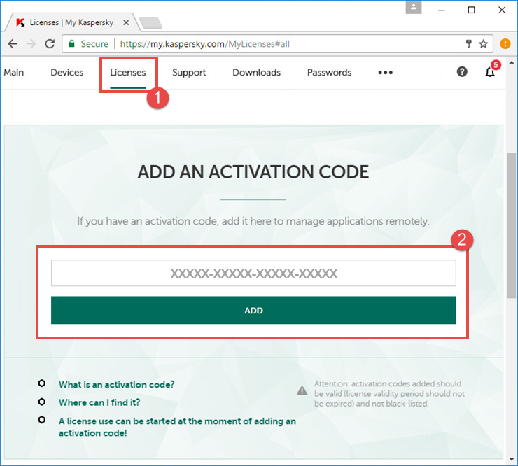 Image: My Kaspersky account