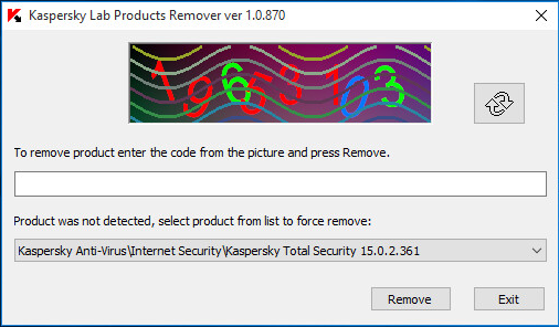 The removal tool for Kaspersky Lab products