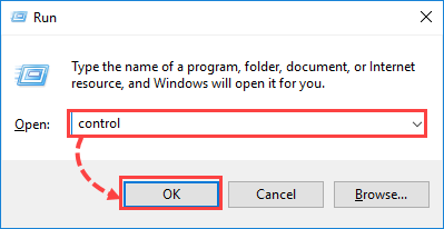Opening Control Panel in Windows 10