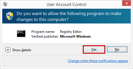 Confirming changes to the computer in order to start Safe Mode in Windows