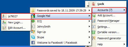 How to save Gmail account in Password Manager in Kaspersky PURE R2?