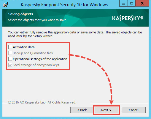 Uninstalling Kaspersky Endpoint Security 10 for Windows