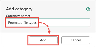 Creating a category in Kaspersky Endpoint Security 11 for Windows
