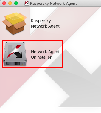 The removal of the Network Agent in Kaspersky Endpoint Security 11 for Mac.