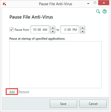 Image: Pause File Anti-Virus window of Kaspersky Internet Security 2018