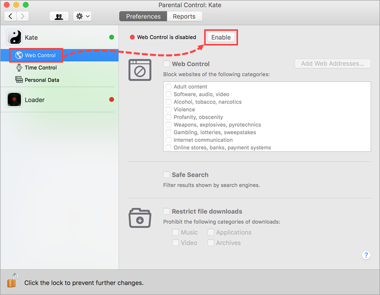 How to use Parental Control in Kaspersky Internet Security 19 for Mac