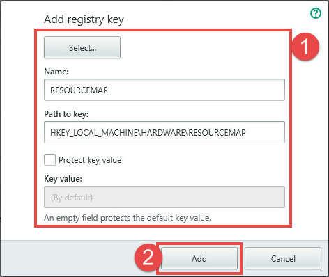 Image: adding a registry key