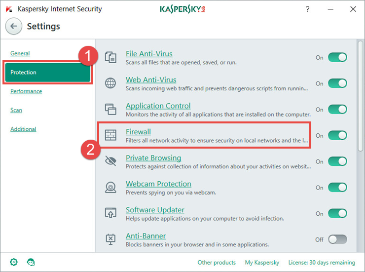 How to use Firewall in Kaspersky Internet Security 2018