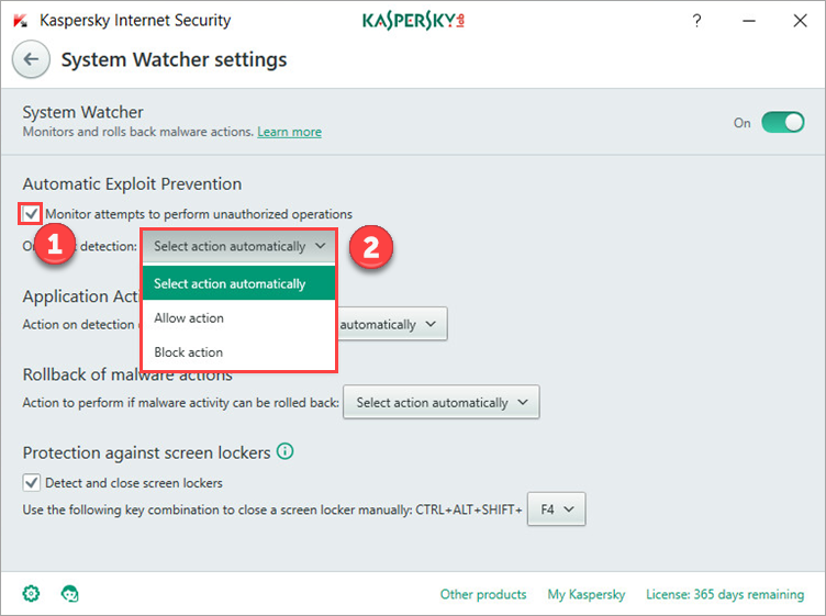 How to configure Automatic Exploit Prevention in Kaspersky