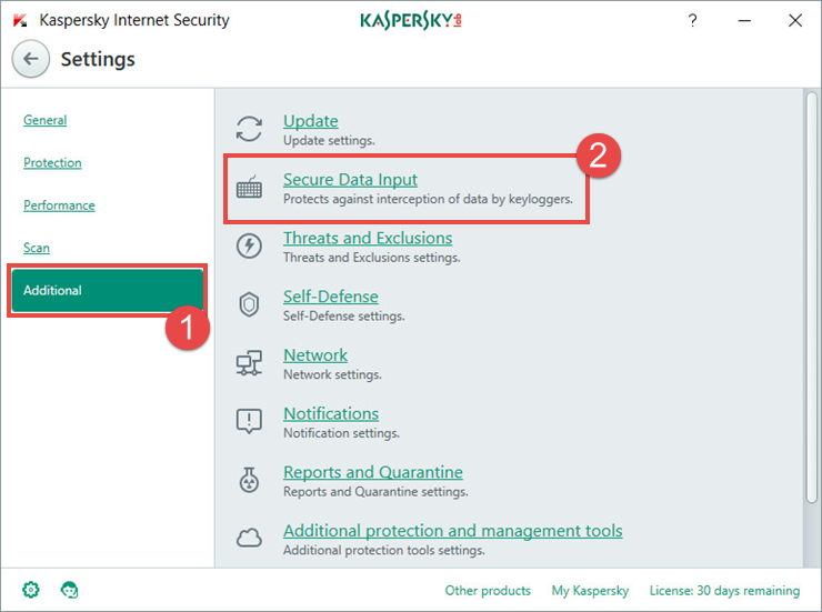 How To Protect Keyboard Input In Kaspersky Internet Security 2018