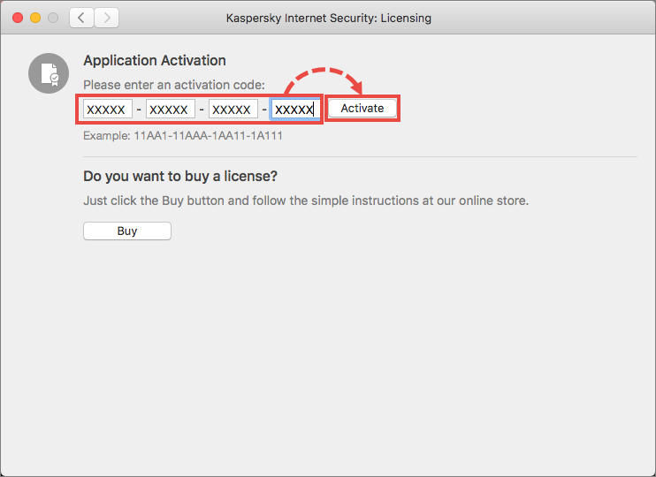 Activating Kaspersky Internet Security 20 for Mac