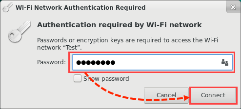 Entering the Wi-Fi password in Kaspersky Rescue Disk 18
