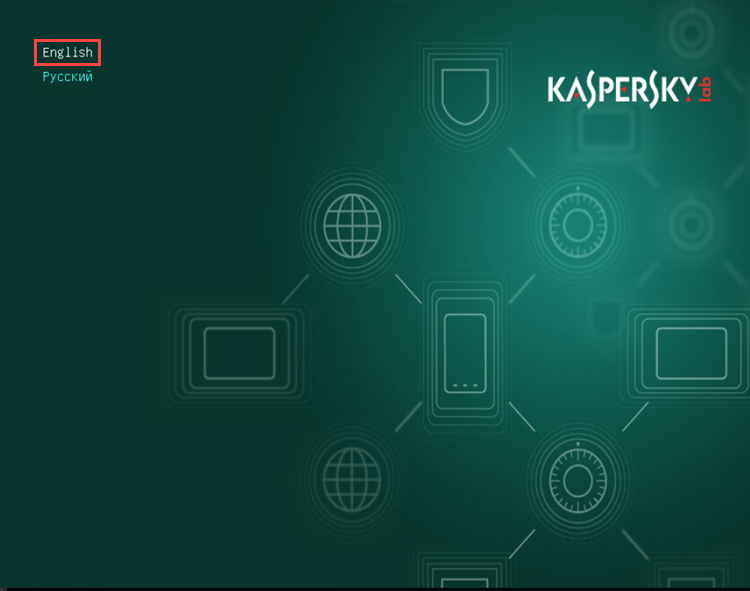 Kaspersky Rescue Disk 2018 language selection