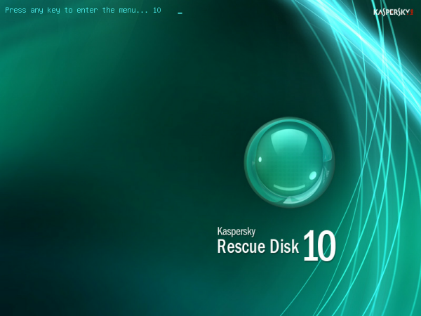 Full Kaspersky Rescue Disk screenshot