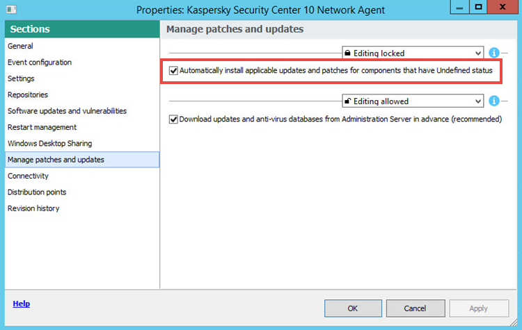 How to install an autopatch for Kaspersky Security Center 11