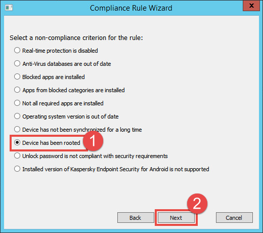 Image: Compliance Rule Wizard