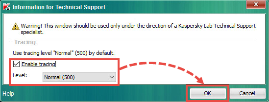 Enabling traces in Kaspersky Security for Virtualization 5.0 Light Agent