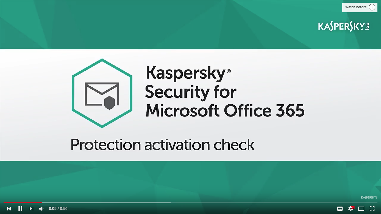 Kaspersky Security for Microsoft Office 365 | Videos