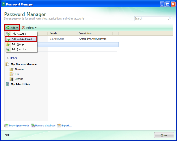 How to manage templates in Password Manager from Kaspersky PURE R2