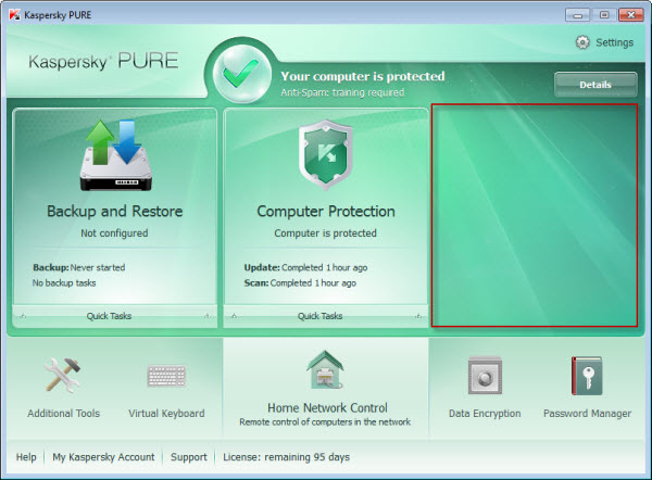 Kaspersky pure 1 0 r2 Download Full version with activation code
