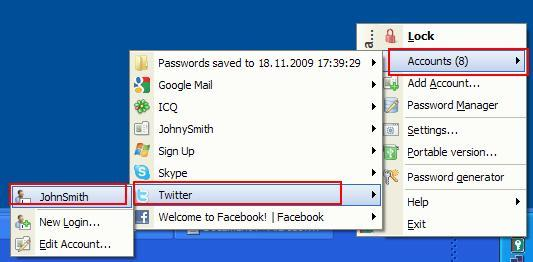 How to save Twitter account in Password Manager in Kaspersky