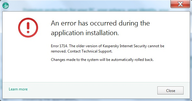 Installation error 1316 What should I do?