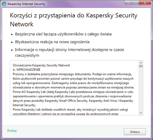Kaspersky Security Network w Kaspersky Internet Security 2016