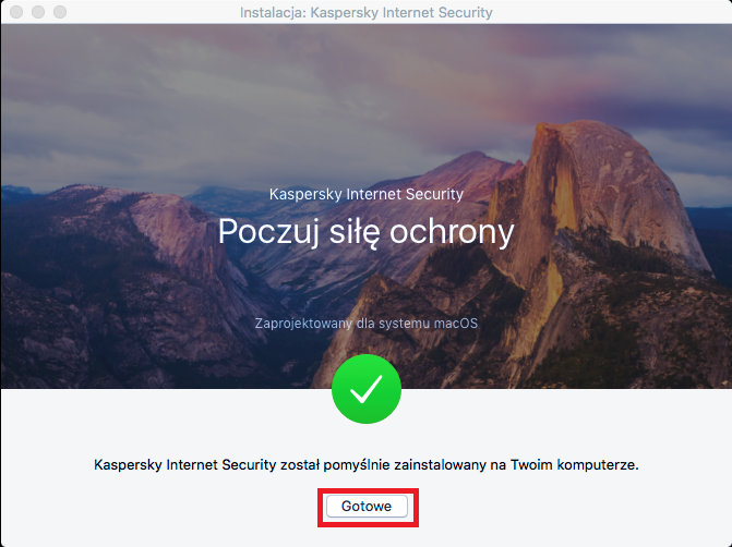 Obrazek: Okno instalacji Kaspersky Internet Security 18 for Mac