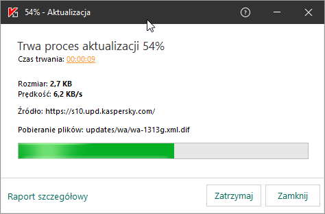 Aktualizacja w Kaspersky Endpoint Security 11 for Windows
