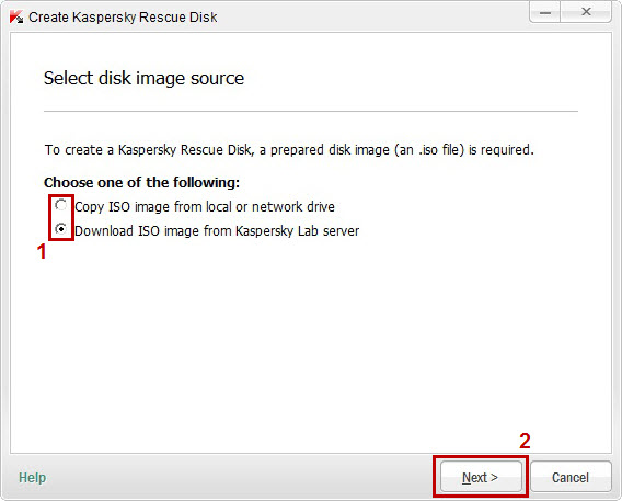 Select the file which is your driver disk image
