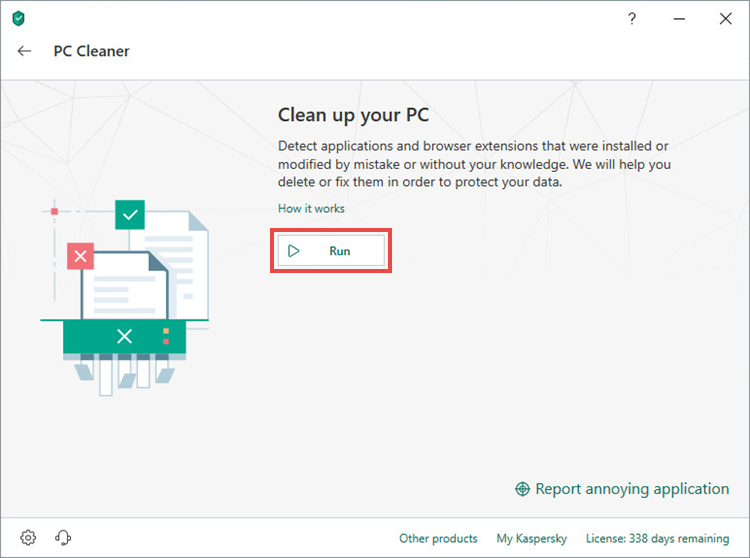 Running a search for unwanted applications in Kaspersky Security Cloud 19