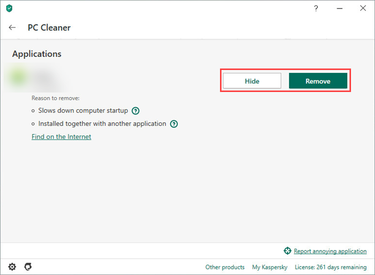 Cleaning up the computer with Kaspersky Security Cloud 20