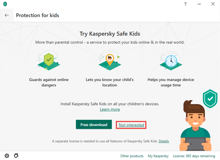Returning to Parental Control in Kaspersky Total Security 20